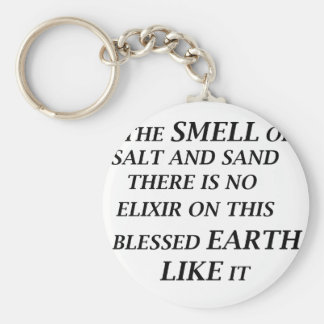 ah the smell of salt and sand there is on elixir o basic round button keychain