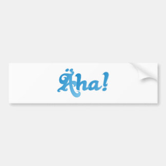 äha Bavarian call bavarian exclamation Bumper Sticker