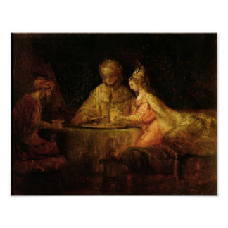 Ahasuerus , Haman and Esther, c.1660 Poster