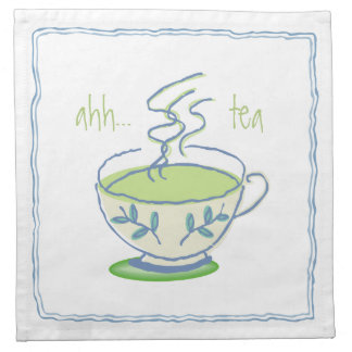 ahh...tea Blue Teacup Napkin