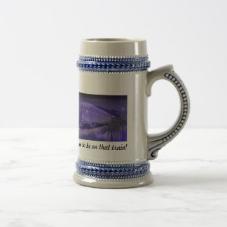 Ahh to be on that train! Beer Stein