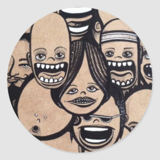 Ahhh!!! Classic Round Sticker
