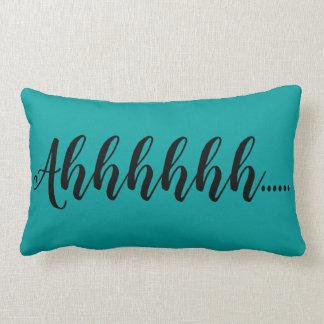 Ahhhhh Teal Solids Lumbar and Throw Pillows