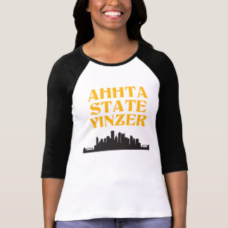 Ahhta State Yinzer Women's Baseball Tee