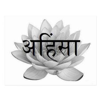 Ahimsa Lotus Flower Postcard