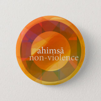 ahimsā - non-violence 2 inch round button