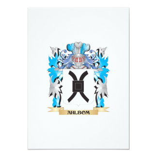 "Ahlbom Coat Of Arms 5"" X 7"" Invitation Card"