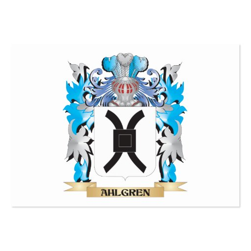 Ahlgren Coat Of Arms Business Card
