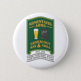 Ahnentafel Arms Genealogy Bar & Grill. 2 Inch Round Button