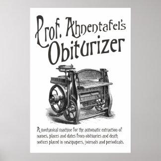 Ahnentafel's Obiturizer Poster