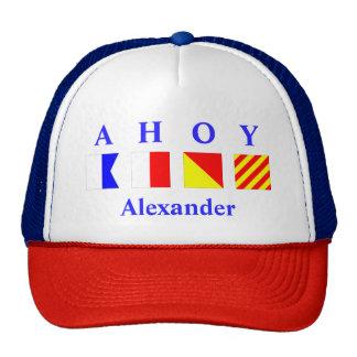 AHOY Blue Personalized Trucker Hat