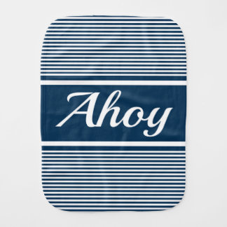 Ahoy Burp Cloth