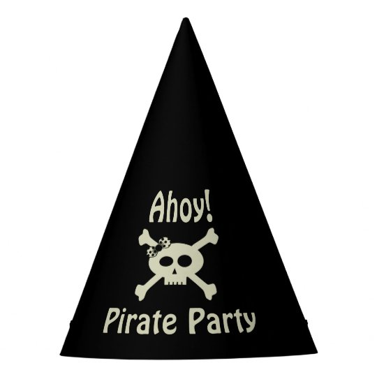 Ahoy! Cute Pirate Party Paper Hat