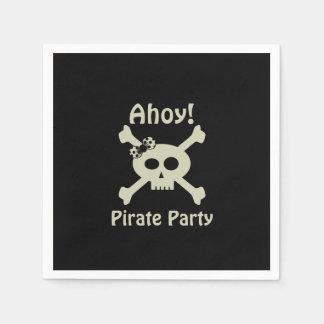 Ahoy! Cute Pirate Party Paper Napkins