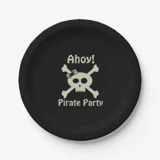 Ahoy! Cute Pirate Party Paper Plates 7 Inch Paper Plate