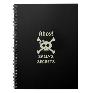 Ahoy! Cute Pirate Secret Spiral Notebook
