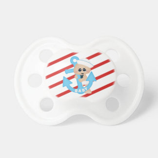 Ahoy it's a Boy Anchor Baby Sailor Stripe Pacifier