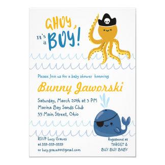 Ahoy Its A Boy Baby Shower Invitation