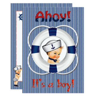 Ahoy It's a Boy Baby Shower Invitation