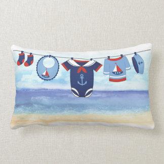 Ahoy It's A Boy Baby Shower Pillow