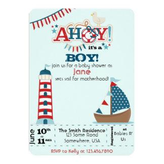 Ahoy It's a Boy! Card