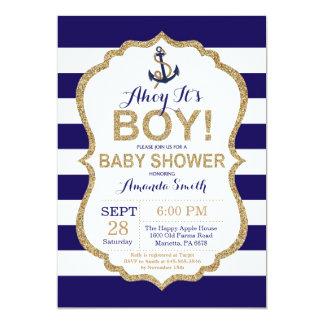Ahoy it's a Boy! Nautical Baby Shower Invitation