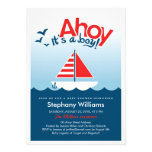 Ahoy it's a Boy Nautical Baby Shower Invite
