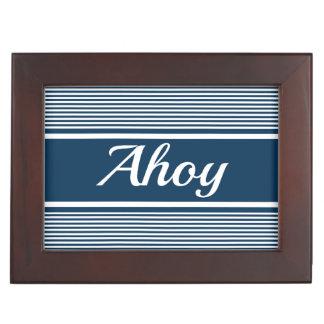 Ahoy Keepsake Box