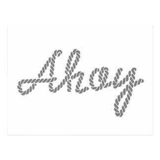 Ahoy made of Rope Post Card