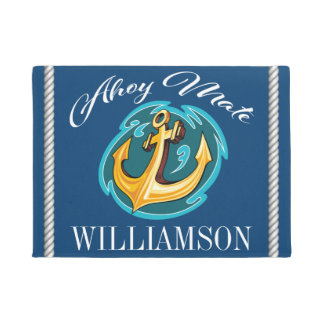 Ahoy Mate Anchor Doormat