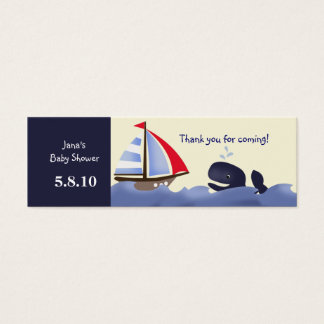 Ahoy Mate Red Sail Favor Tag