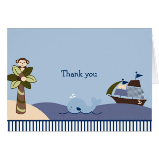 Ahoy Mate Thank You Note Cards