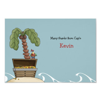 """Ahoy Mates Personalized Thank You / Stationery 3.5"""" X 5"""" Invitation Card"""