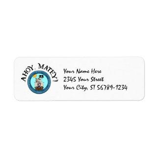 Ahoy Matey Pirate Label Return Address Label