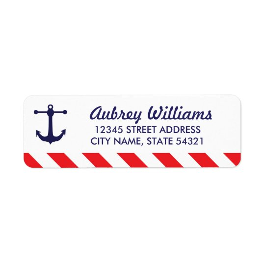 Ahoy! Nautical Address Labels