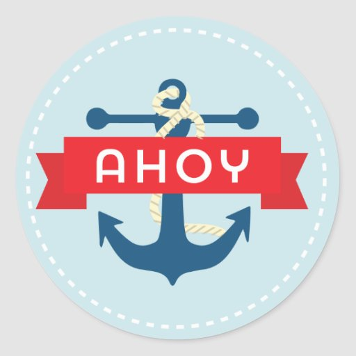 Ahoy! Nautical Anchor Stickers