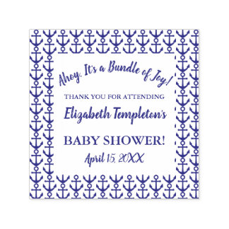Ahoy Nautical Baby Shower Thank You Stamp