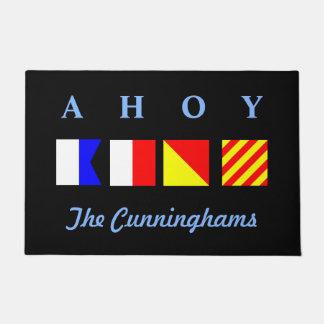 Ahoy Personalized Doormat