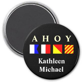 Ahoy Personalized Stateroom Door Marker Magnet