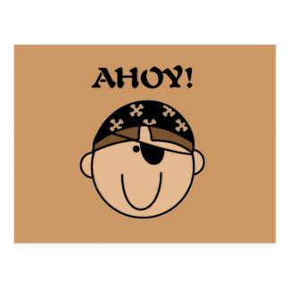 Ahoy Pirate Tshirts and Gifts Postcard
