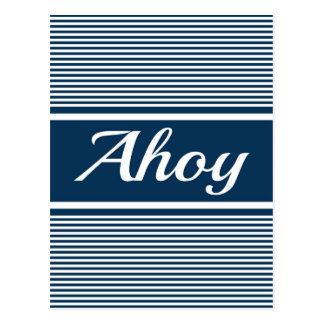 Ahoy Postcard
