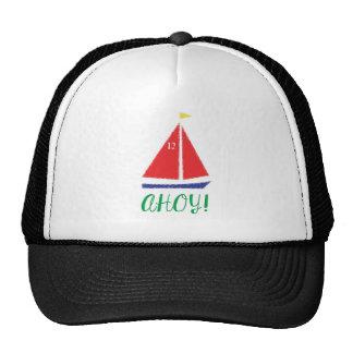 Ahoy! Sailboat design Trucker Hat