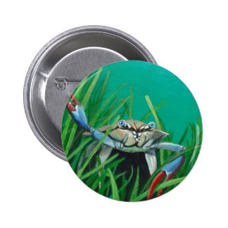 Ahoy There Meet The Under Water Sea Crab 2 Inch Round Button