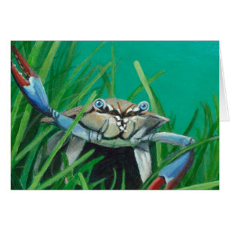 Ahoy There Meet The Under Water Sea Crab Card