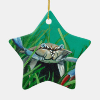 Ahoy There Meet The Under Water Sea Crab Ceramic Star Ornament