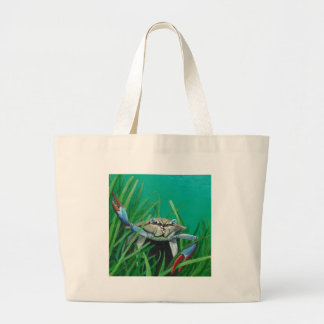 Ahoy There Meet The Under Water Sea Crab Large Tote Bag