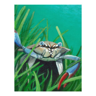 Ahoy There Meet The Under Water Sea Crab Letterhead