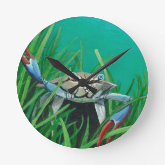 Ahoy There Meet The Under Water Sea Crab Round Clock