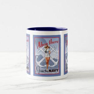 Ahoy There! Navy Pin-Up Mug