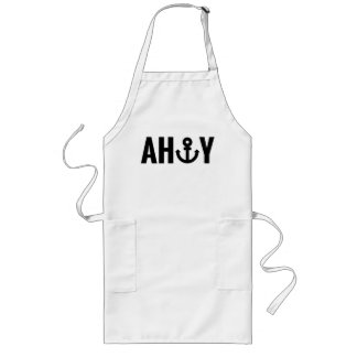 Ahoy with anchor aprons